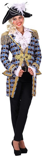 Carnavalsjas Soleil Turquoise voor dames