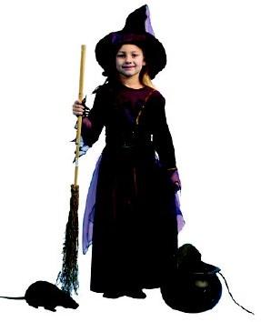 Kostuum Heks Midnight voor meisjes
