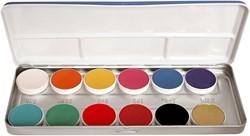 Aquacolor Palet FP 12 kleuren KRYOLAN