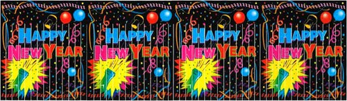 Franje Banner Happy New Year 3,6 mtr