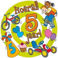 Huldeschild Hoera 5 jaar