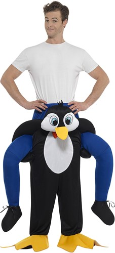 Piggyback Kostuum Pinguin