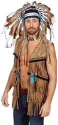 Hippy/Indianen Vest voor heren