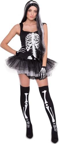 Halloween Jurkje Skelet met Tutu voor dames