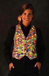 Dames Gilet Castalia Goud met LED-verlichting
