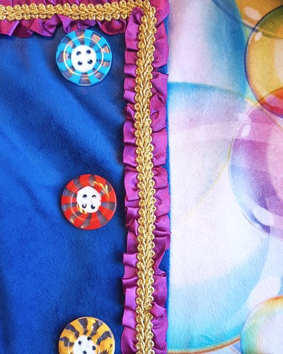 Damesjas Carnavale Bubbels (fluweel)-3