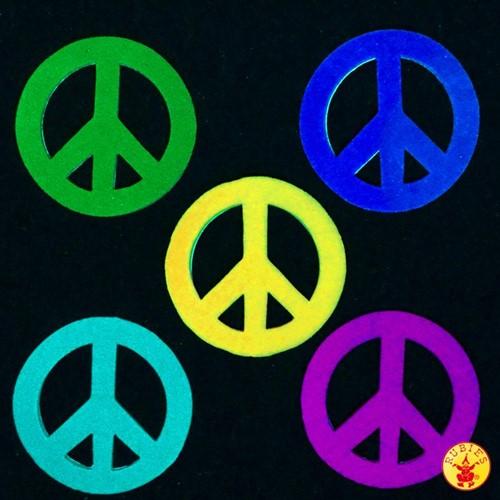 Viltstickers Rondjes (Peace)
