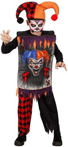 Halloweenkostuum Scary Joker voor kinderen