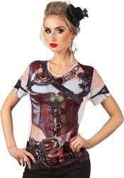 Dames T-shirt Steampunk (Fotorealistisch)