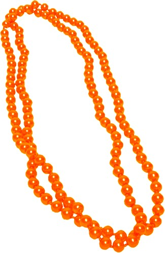 Parelketting Glas Lang Neon Oranje