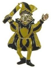Broche Prins Carnaval Geel/Zwart