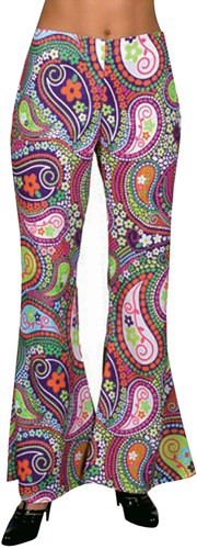 Hippiebroek Funky Colors Dames