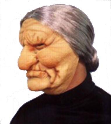 Masker Oma met Knot Latex