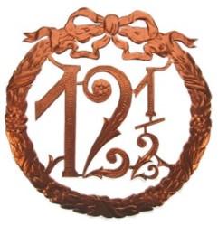 Jubileumkrans 12,5 Jaar Koper Luxe (24x24cm)
