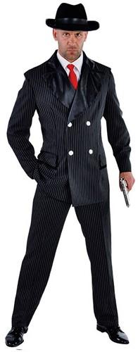 Kostuum Gangster Zwart Getailleerd
