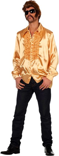 Disco Ruches Blouse Luxe Goud