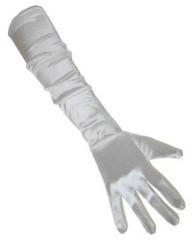 Handschoenen Satijn Wit 48cm
