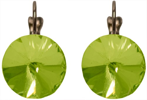 Oorbellen Diamanten Rond Fluor Groen