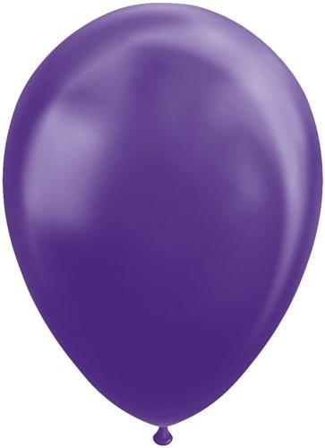 Ballonnen Metallic Paars 30cm - 25st