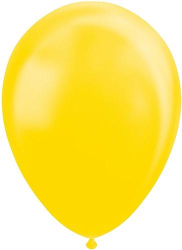 Ballonnen Metallic Geel 30cm - 100st