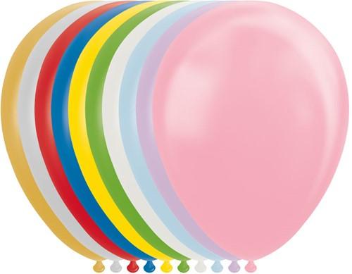 Ballonnen Metallic Multi 30cm - 100st