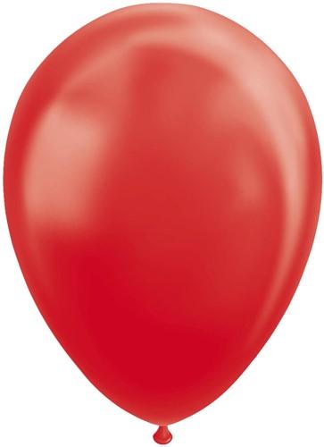 Ballonnen Metallic Rood 30cm - 100st