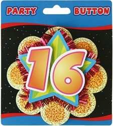 3D Button 16 Jaar