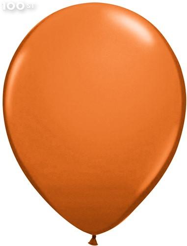 Ballonnen Metallic Koper 35cm - 100 stuks
