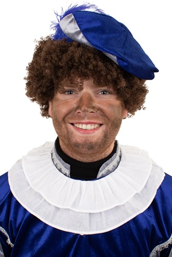 Zwarte Piet Kraag Katoen