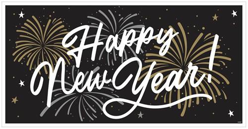 Banner Happy New Year Folie (165x85cm)