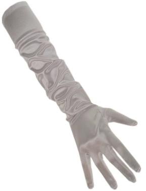 Handschoenen Satijn Zilver 48cm