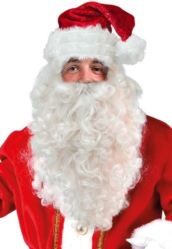 Kerstman Pruik + Baard Luxe