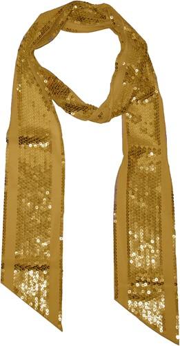 Sjaal Pailletten Goud (195x10cm)