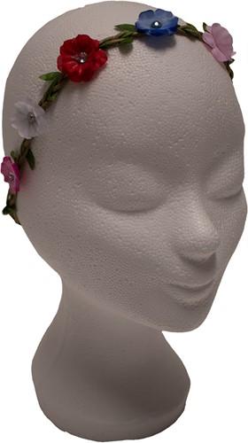 Haarbandje met Bloemen Multi met Strass