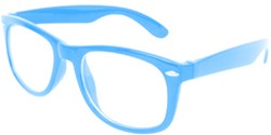 Blues Brother Bril Lichtblauw met blank glas