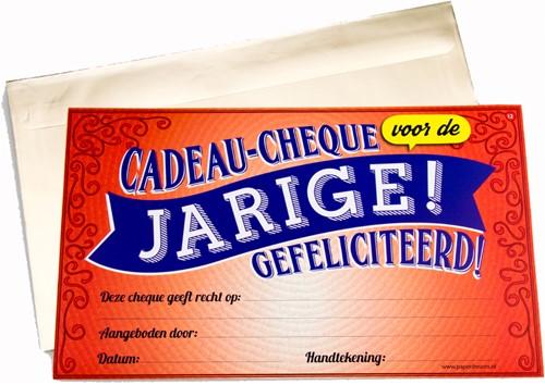 Cadeau Cheque Jarige
