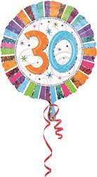 Folieballon 30th B-day Prismat