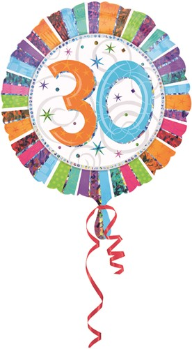 Folieballon 30th B-day Prismat 45cm