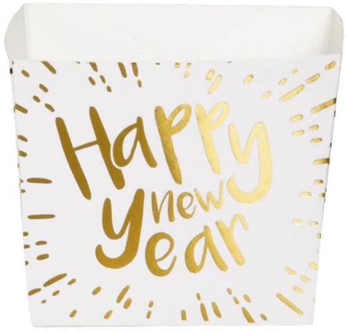 Kartonnen Bakjes Happy New Year 40cl - 6st.