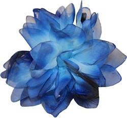 Bloemenbroche Glitter + Elastiek Blauw