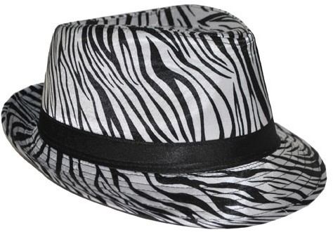 Hoed Trendy Zebra