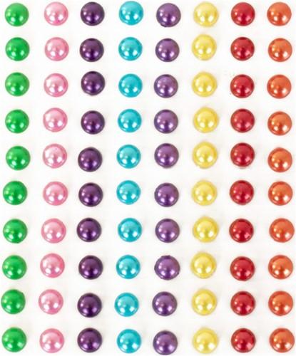 Body Jewel Rondje Pearls 6mm 8 Kleuren 80st.