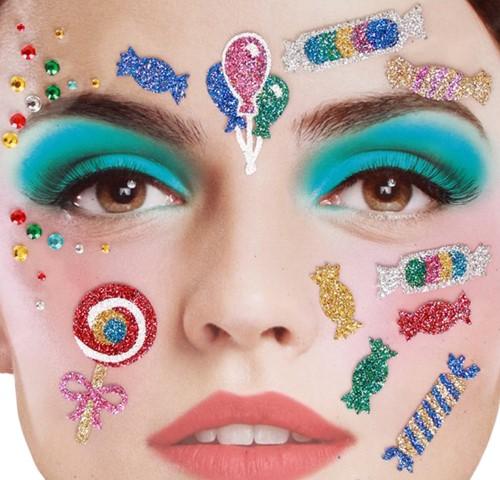 Gezicht Stickers Candy