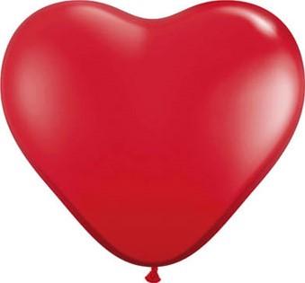 Hartballonnen Rood 25cm 100 stuks