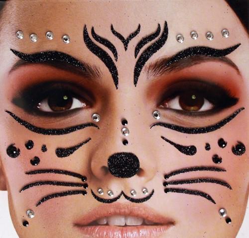 Gezicht Stickers Kat