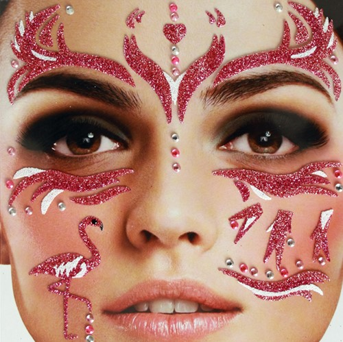 Gezicht Stickers Flamingo