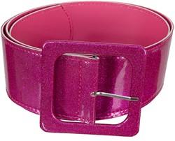 Disco Glitter Riem Pink (110x6cm)
