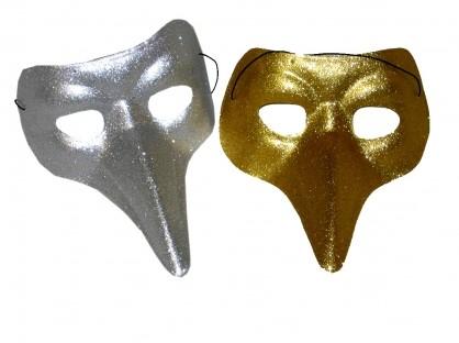 Venetiaans Masker Snavel Glitter Goud
