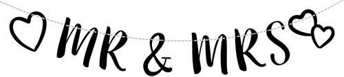 Letterslinger Huwelijk - Mr. & Mrs.