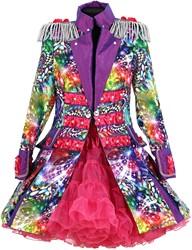 Dames Carnavalsjas Purple Holographic Diamonds